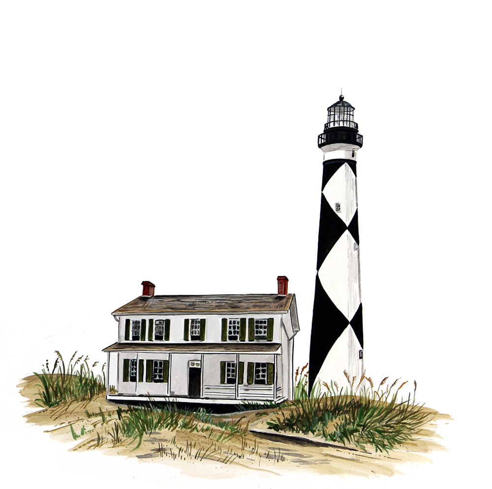 Image Is Loading Cape Lookout Outer Banks Lighthouse Light House Home