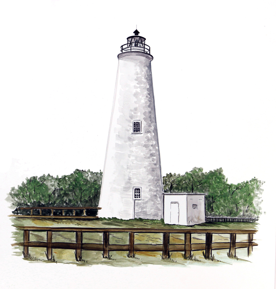 Outer banks ocracoke light house lighthouse home office for Lighthouse home designs
