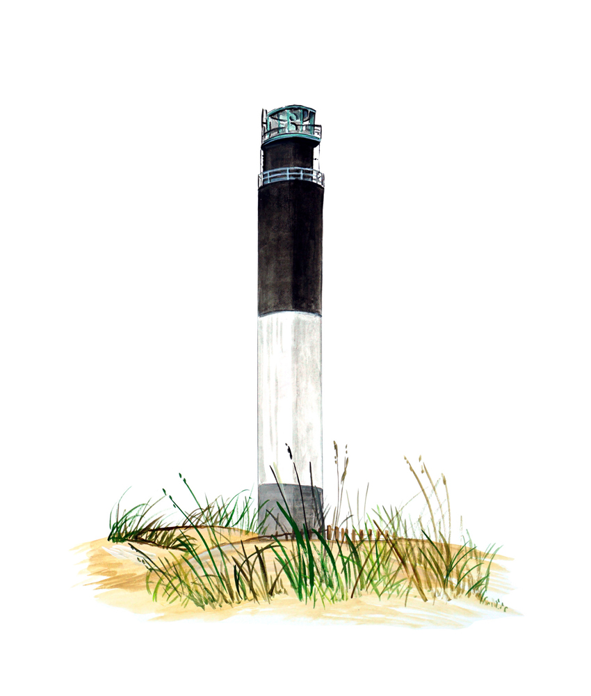 North Head Lighthouse Drawing by Lawrence Tripoli   Cape Fear Lighthouse Line Drawing