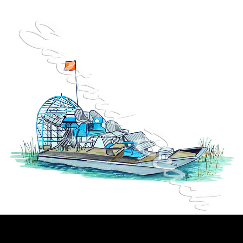 Air Boat - Vinyl Printed Decal