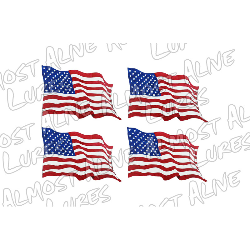 American Flag X 4 - Printed Vinyl Decal