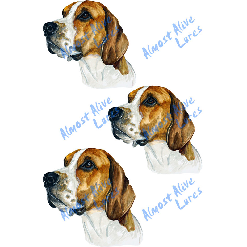 American Foxhound - Minis Set of 3 Printed Vinyl Decals