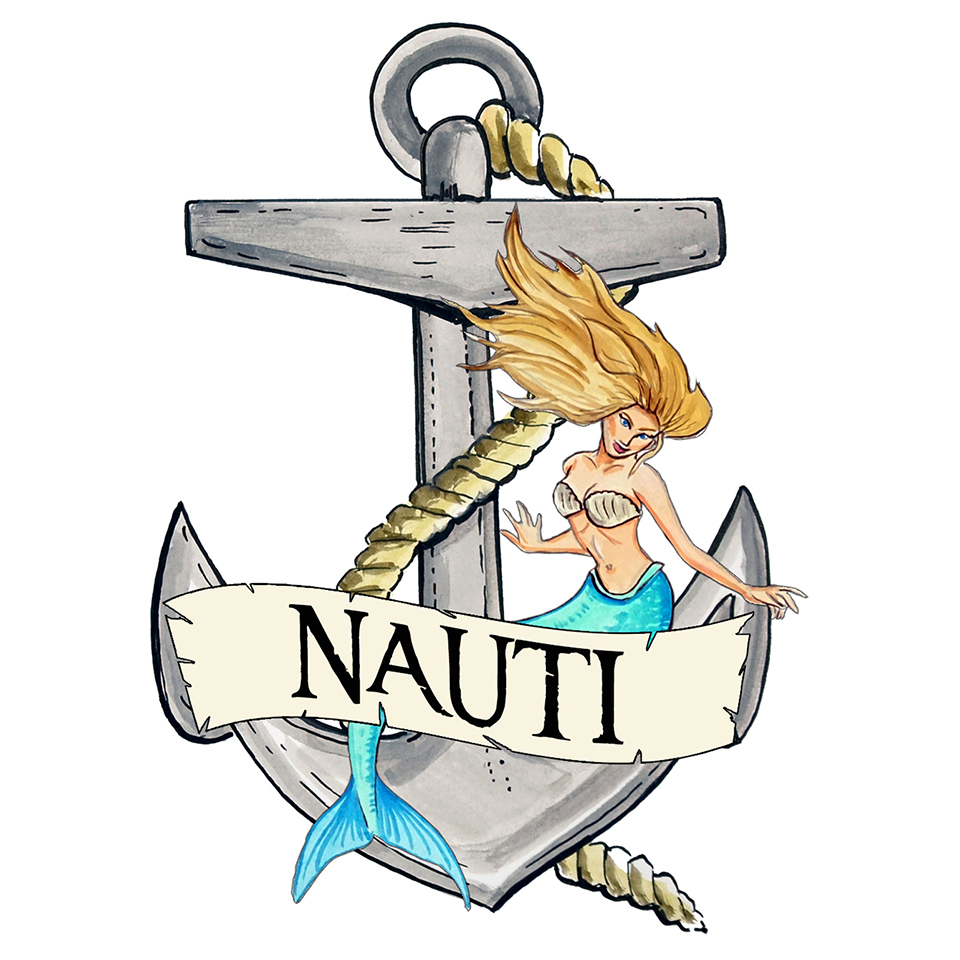 """Nauti"" - Anchor/Mermaid"
