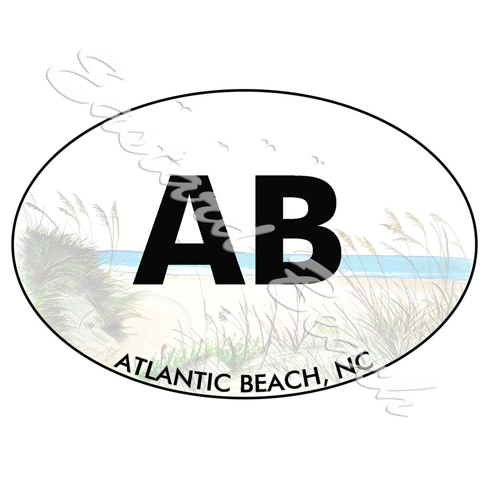 OBX - Atlantic Beach - Printed Vinyl Decal