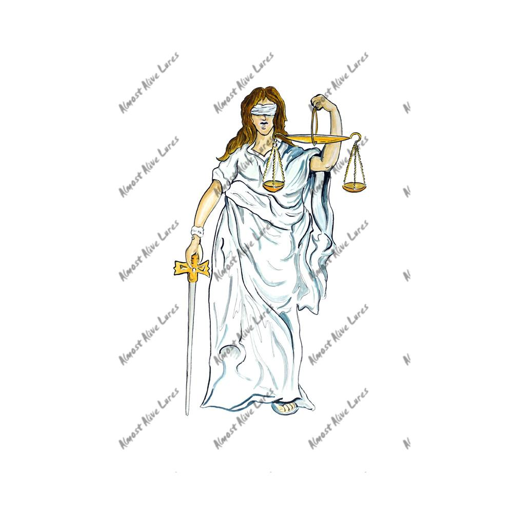 Lady Justice - Printed Vinyl Decal