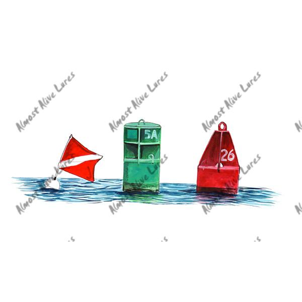 Channel Markers - Printed Vinyl Decal