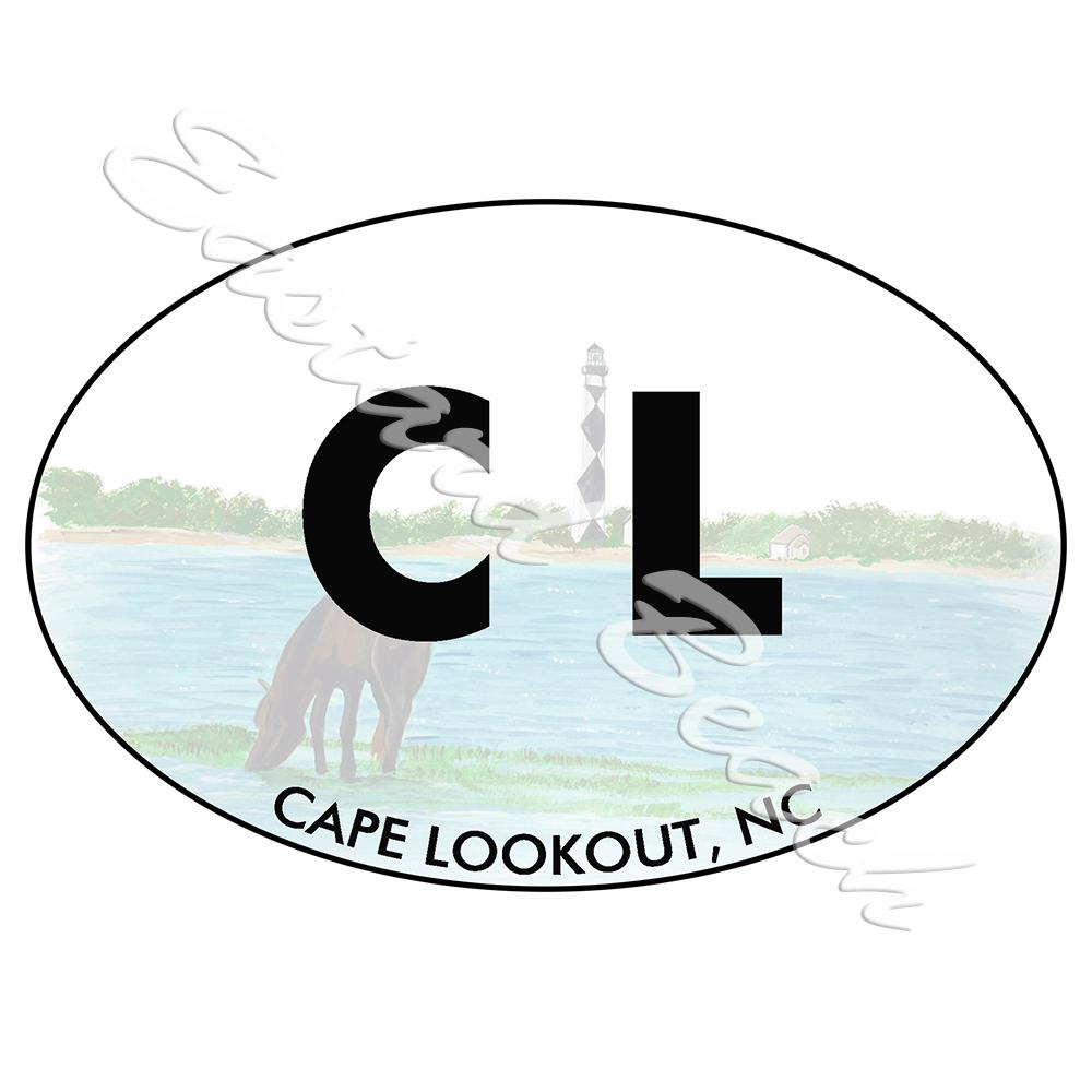 CL - Cape Lookout - Printed Vinyl Decal