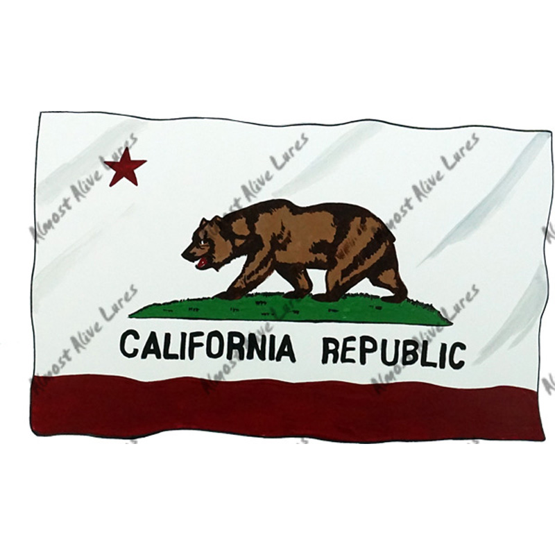 California Flag - Printed Vinyl Decal