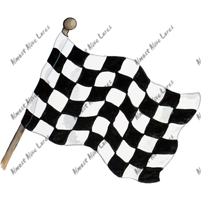 Checkered Flag - Printed Vinyl Decal