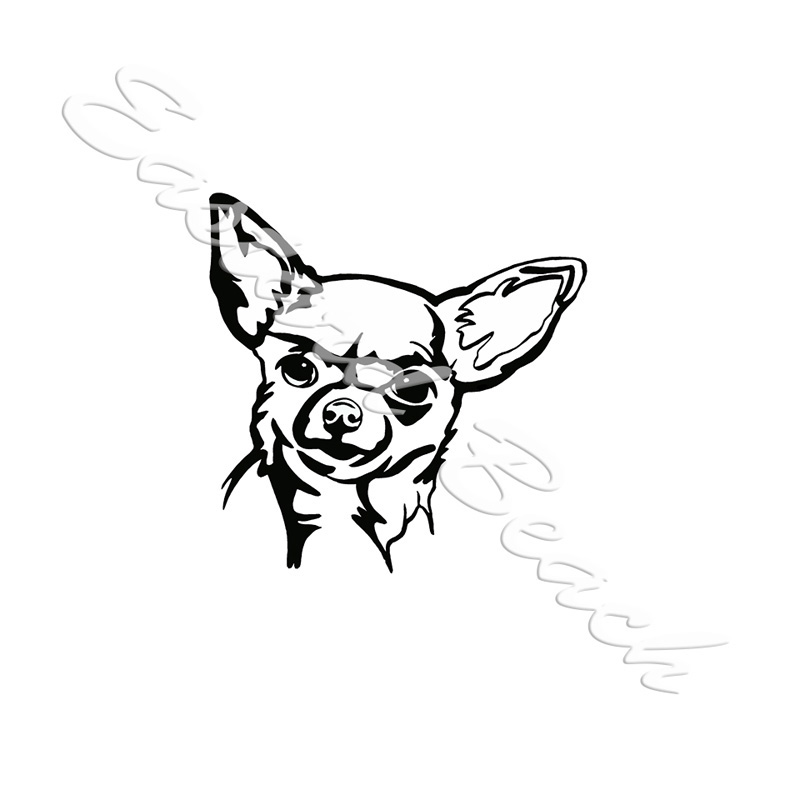 Chihuahua Outline - Printed Vinyl Decal