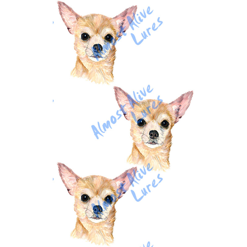 Chihuahua - Minis Set of 3 Printed Vinyl Decals