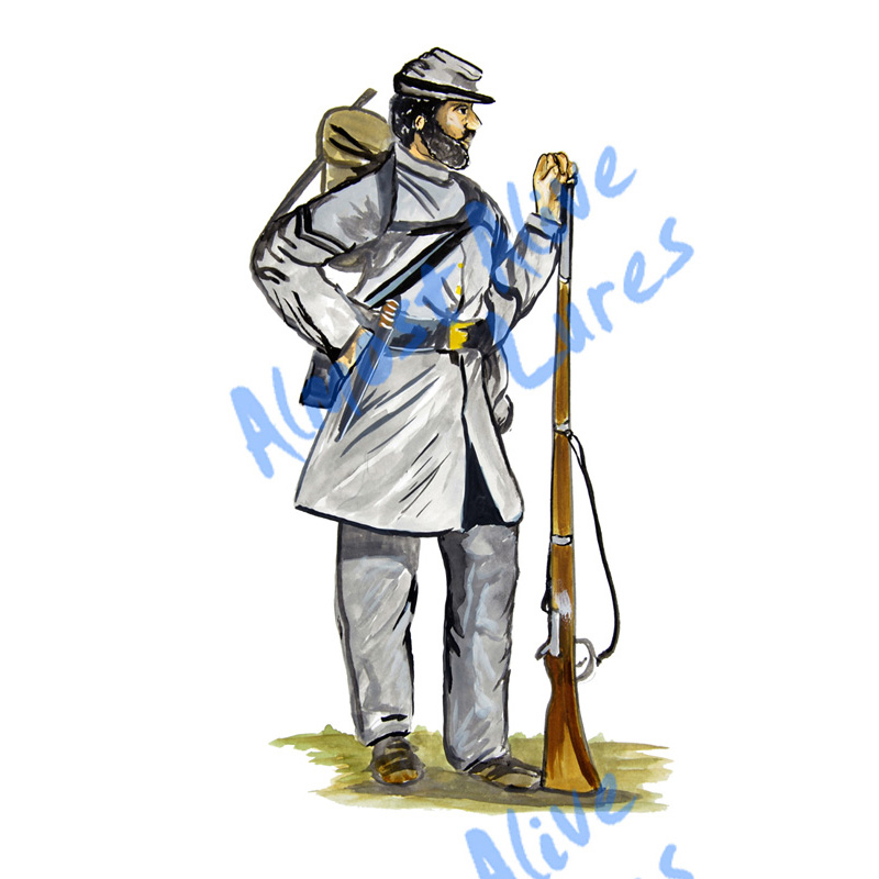 Confederate Soldier - Printed Vinyl Decal