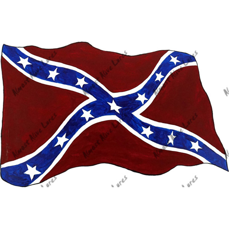 Confederate Flag - Printed Vinyl Decal