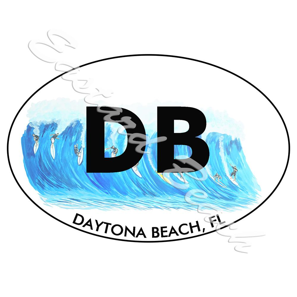 DB - Daytona Beach Surfing - Printed Vinyl Decal