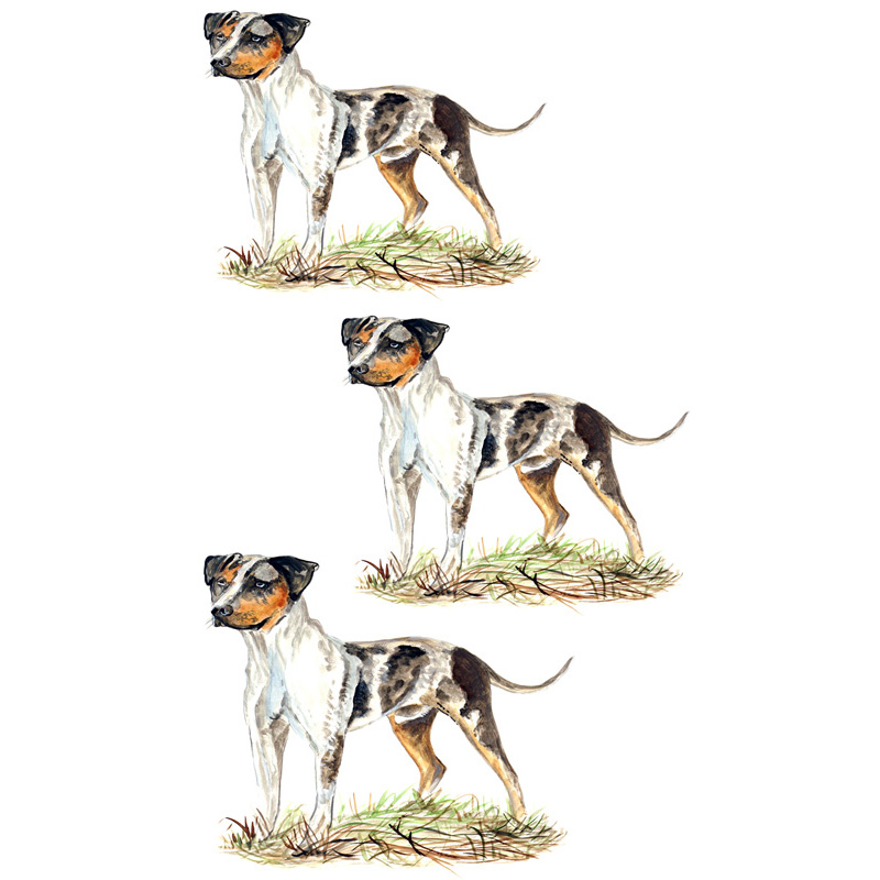 Catahoula Leopard Dog - Minis Set of 3 Printed Vinyl Decals