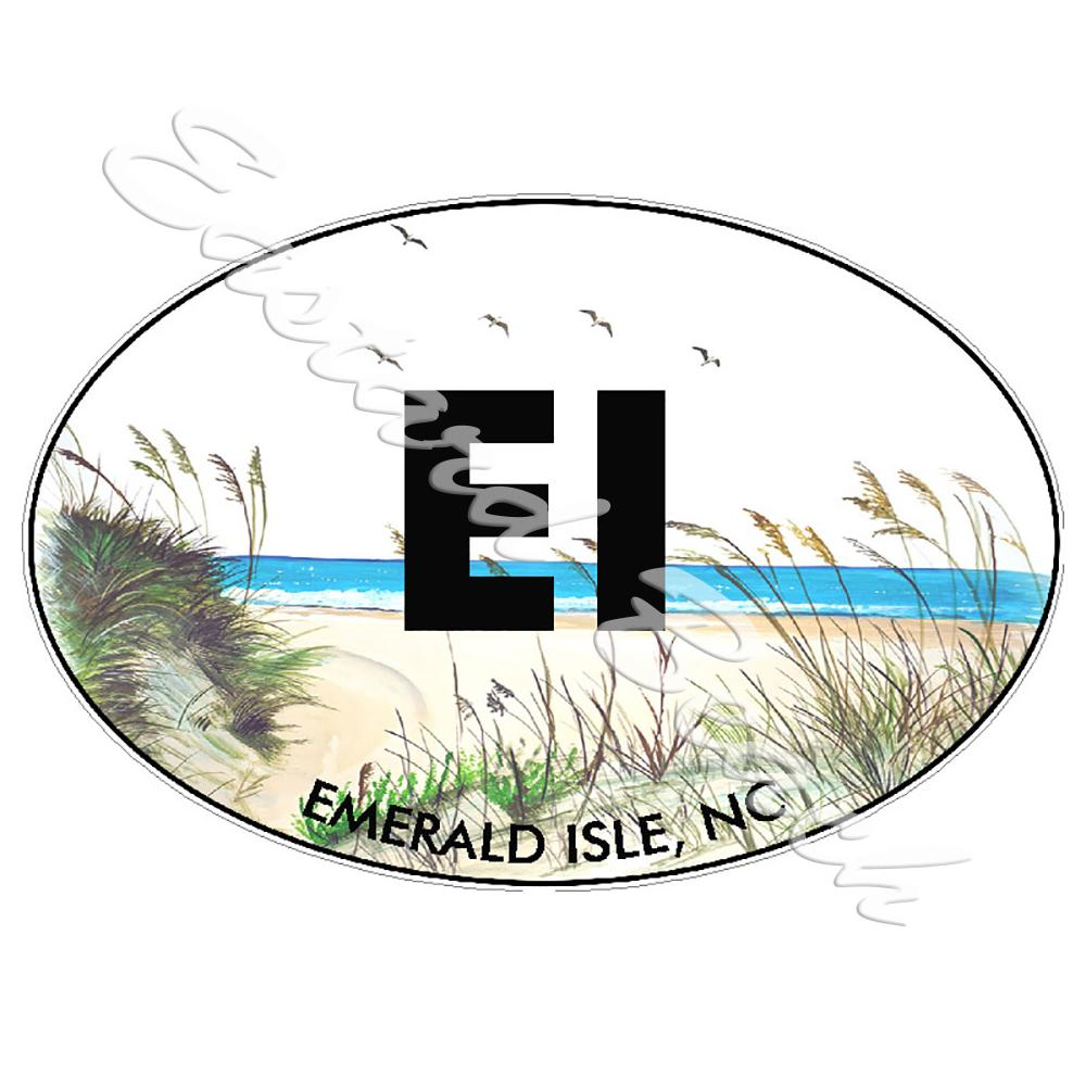 EI - Emerald Isle OBX - Printed Vinyl Decal