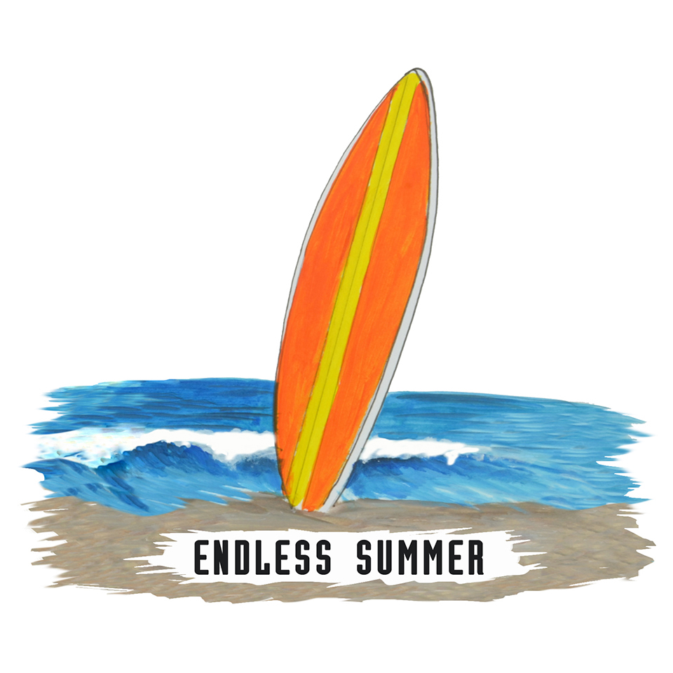 """Endless Summer"" - Surfboard"