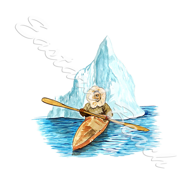 Eskimo In Kayak