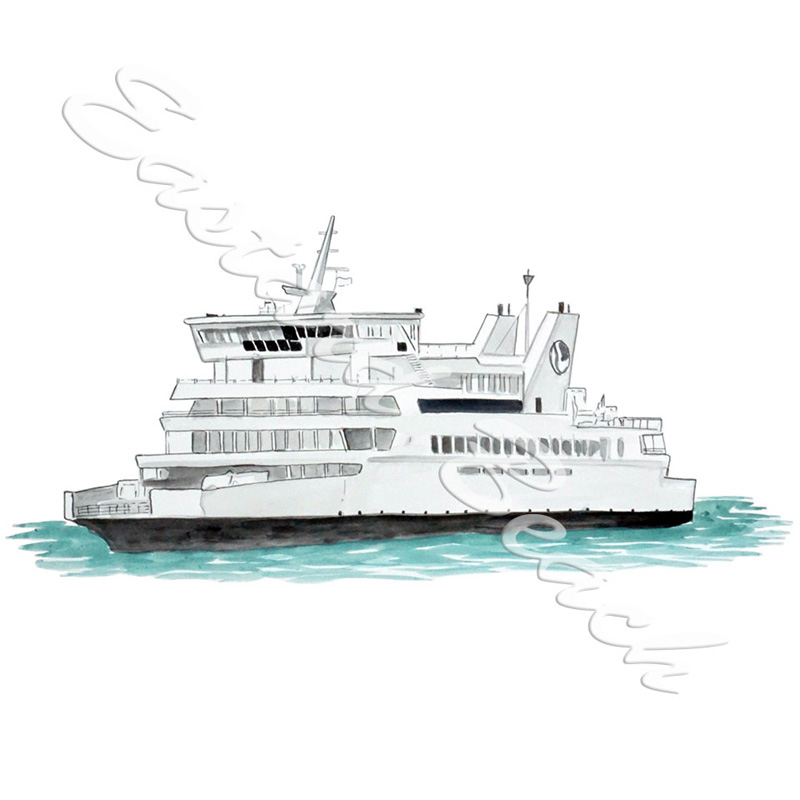 Ferry Boat - Vinyl Printed Decal