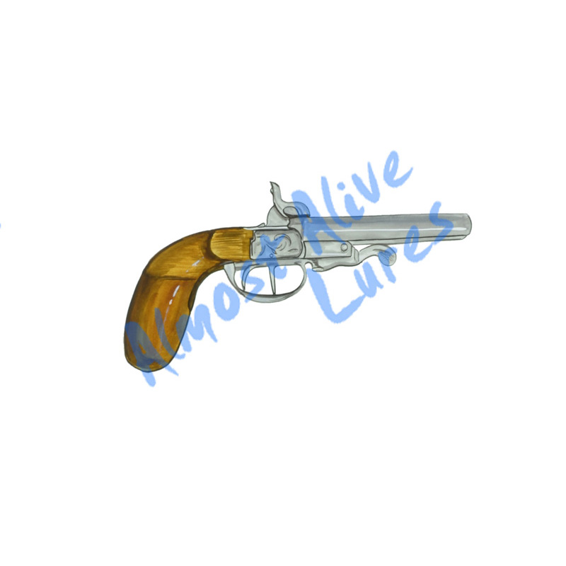 Flintlock Revolver - Printed Vinyl Decal