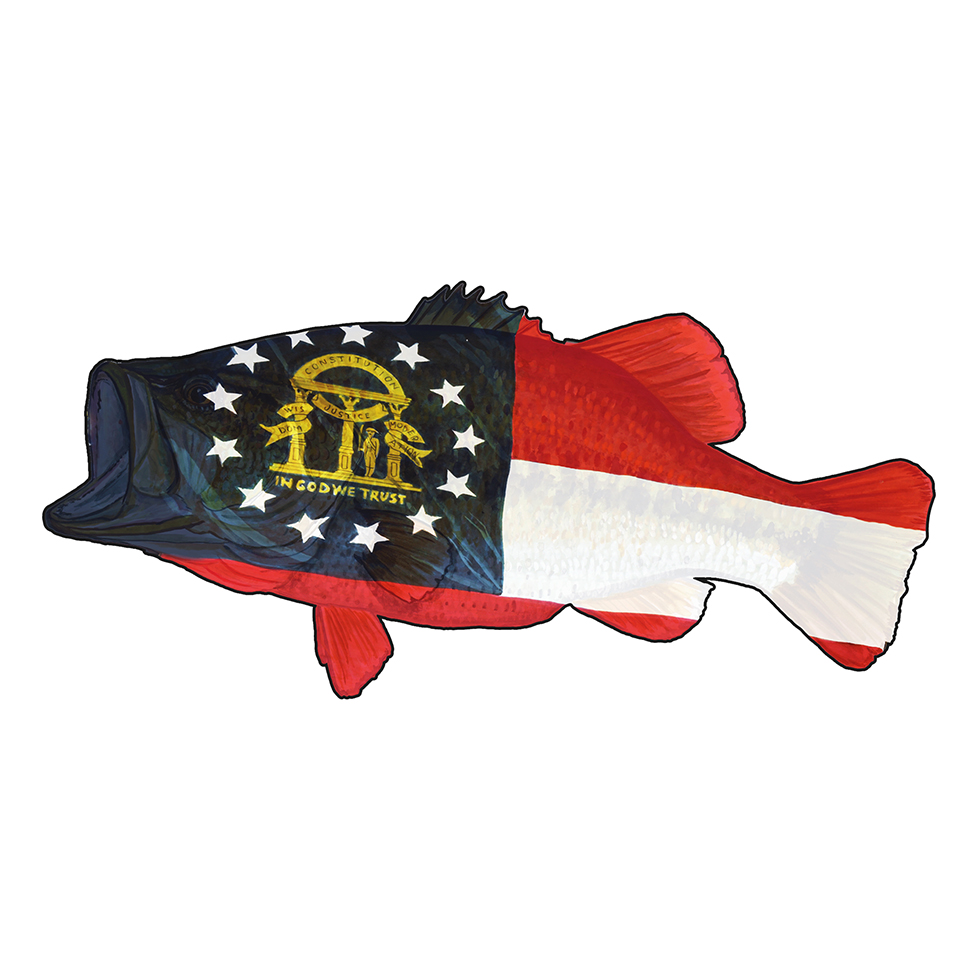 Georgia Flag Bass