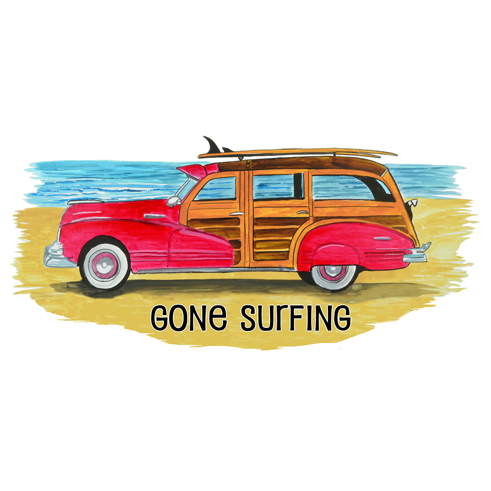 """Gone Surfing"" - Woody"
