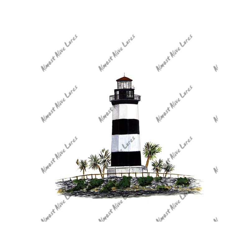 Governors Point Lighthouse - Printed Vinyl Decal
