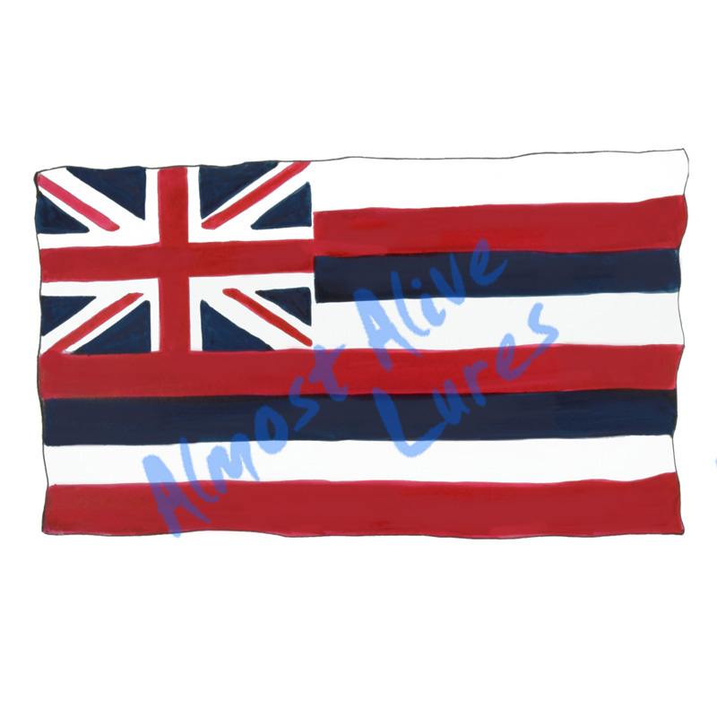 Hawaii State Flag - Printed Vinyl Decal
