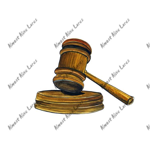 Judges Gavel - Printed Vinyl Decal