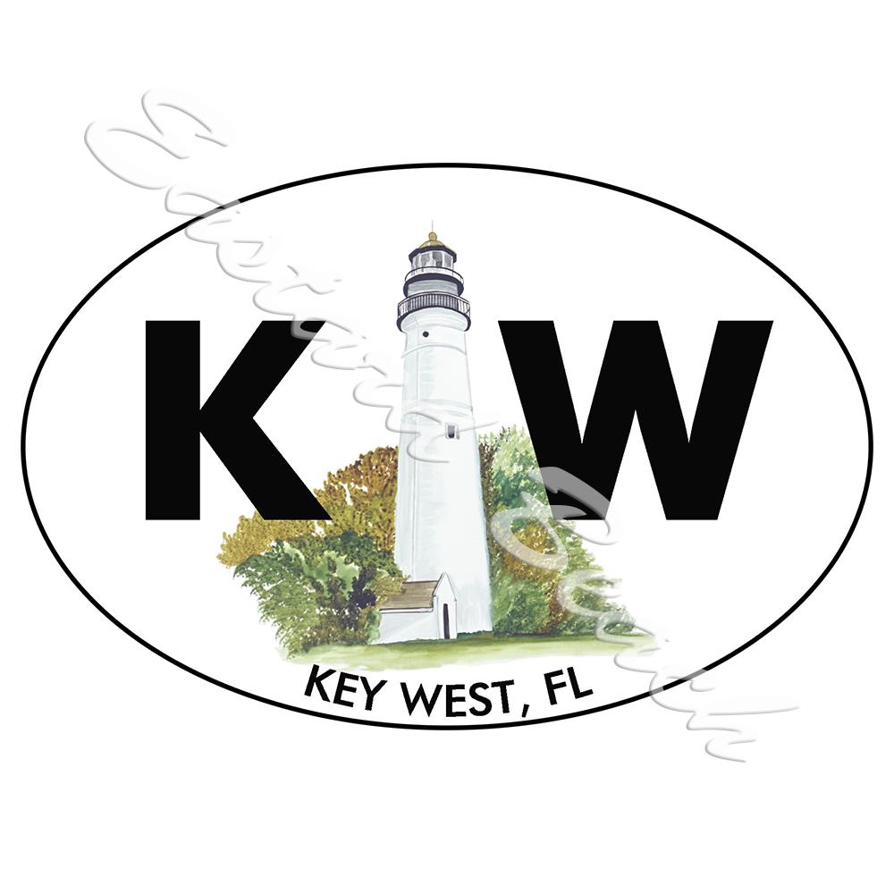 KW - Key West Lighthouse - Printed Vinyl Decal