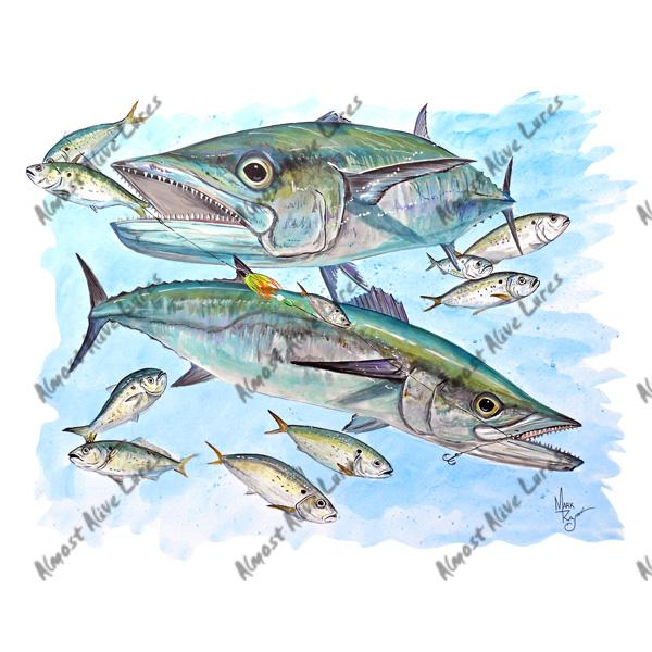 King Mackerel & Menhaden - Printed Vinyl Decal
