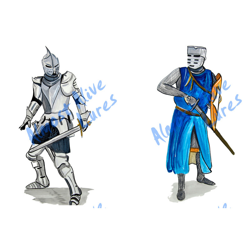 Knight Battle Scene - Printed Vinyl Decal