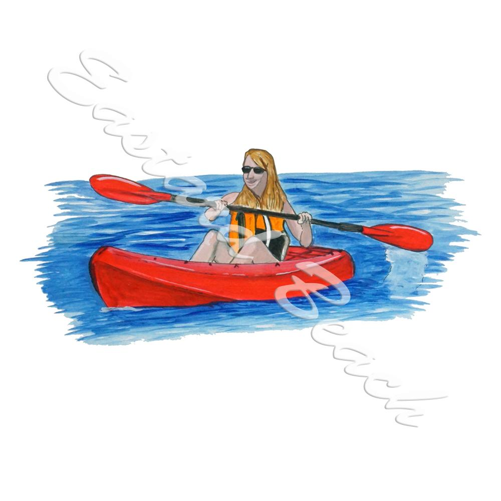Lady Kayaking