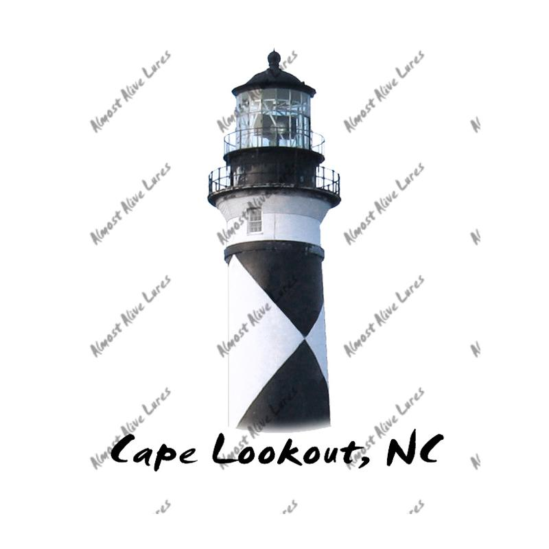 Cape Lookout Light Top - Printed Vinyl Decal