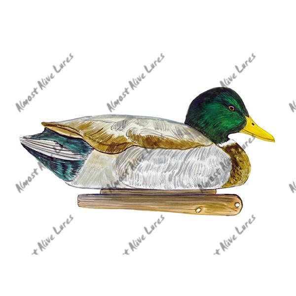 Mallard Duck Decoy - Printed Vinyl Decal