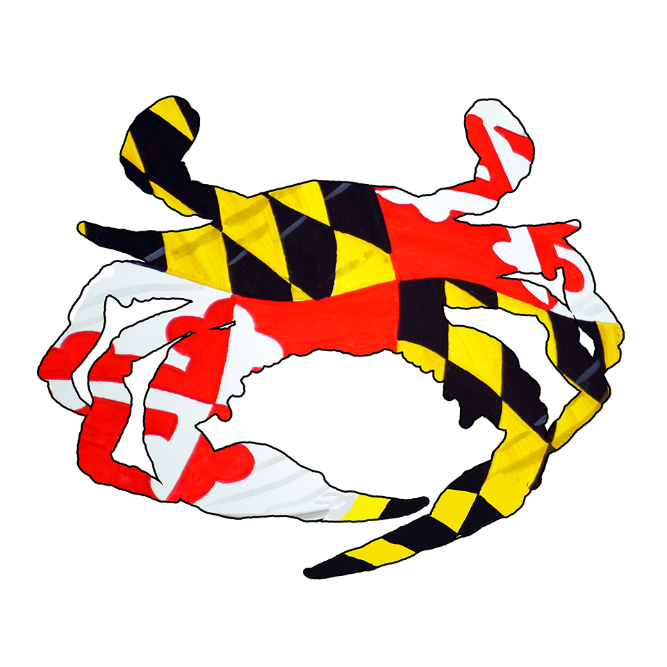 Maryland Flag Blue Crab