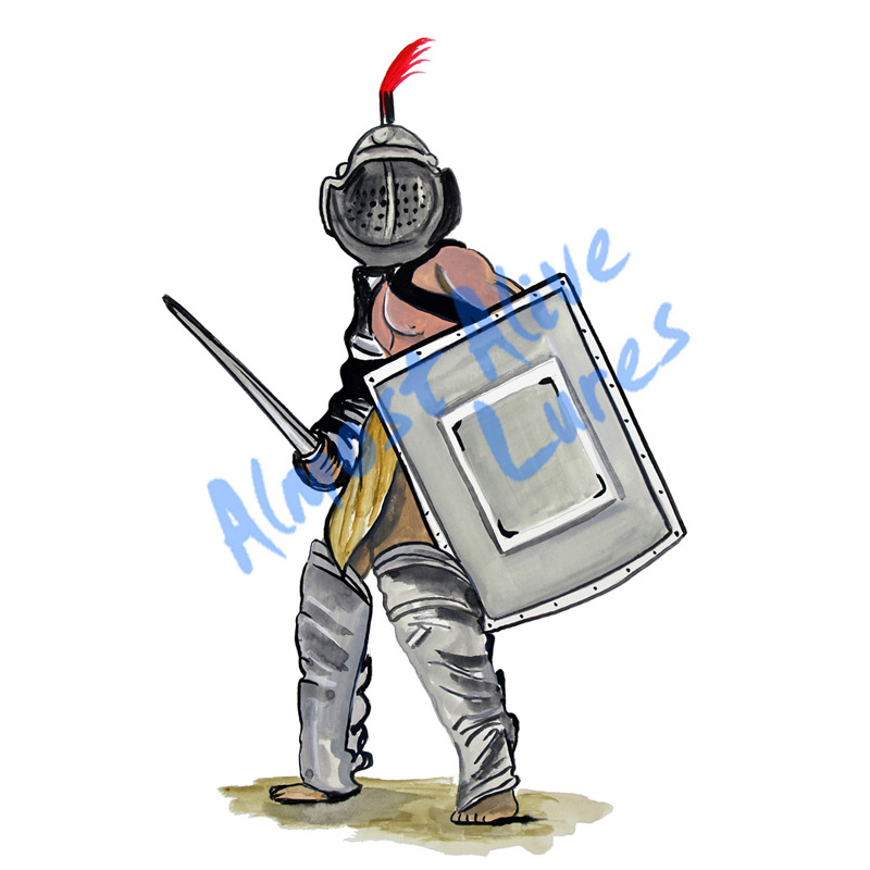 Medieval Soldier - Printed Vinyl Decal