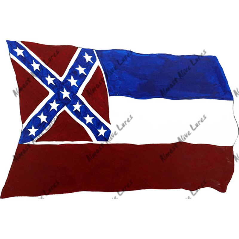 Mississippi Flag - Printed Vinyl Decal