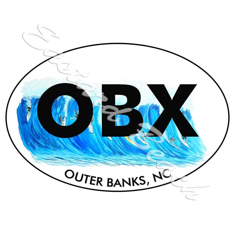 OBX - Outer Banks Surfing - Vinyl Printed Decal