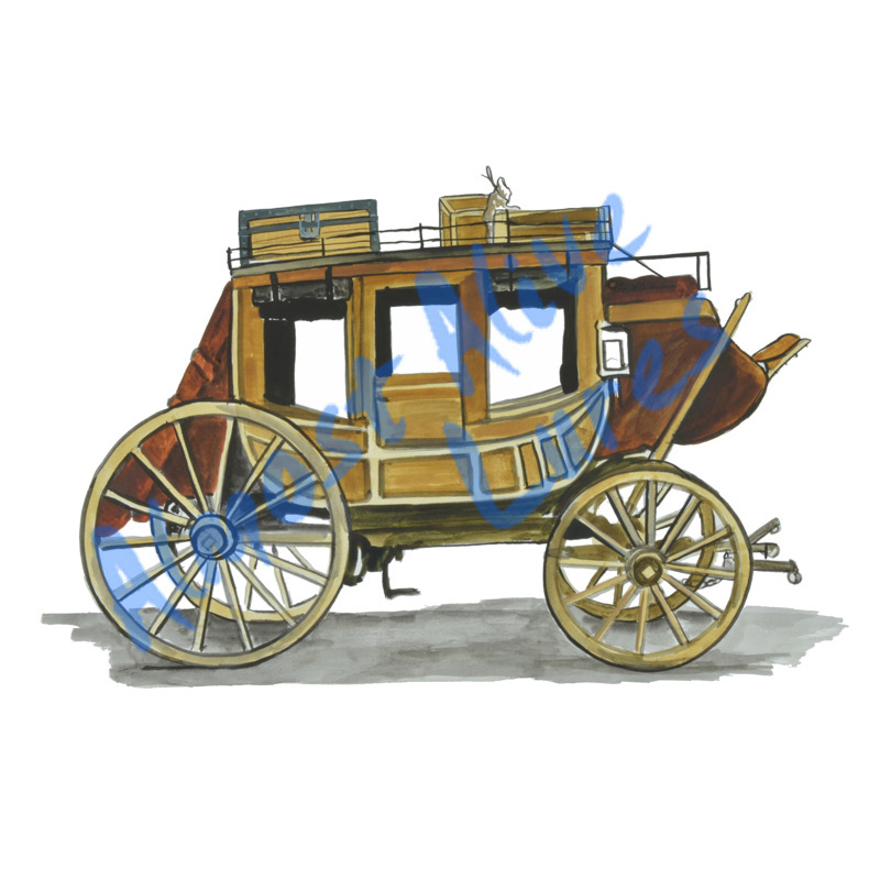 Old Horse Carriage - Printed Vinyl Decal