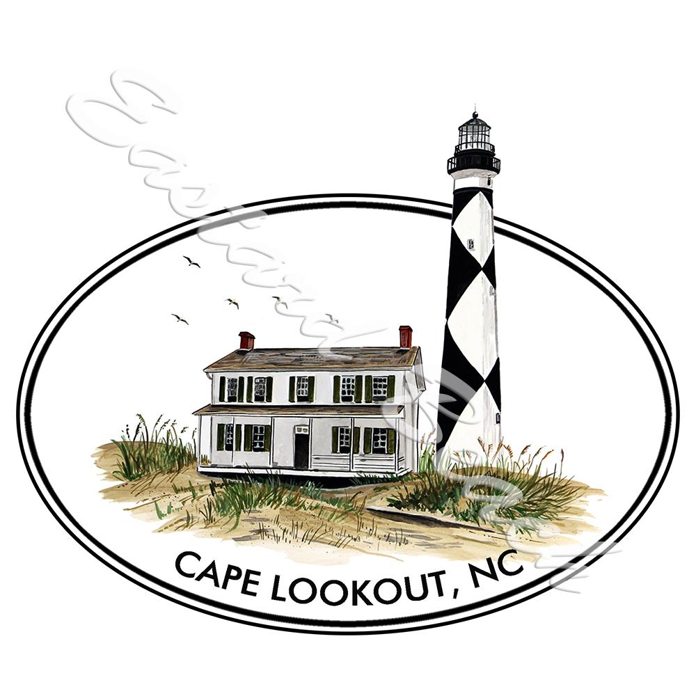 Oval Cape Lookout Lighthouse