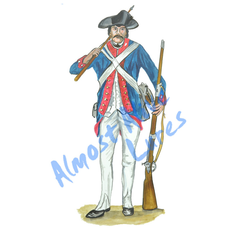 Continental Blue Coat Soldier - Printed Vinyl Decal