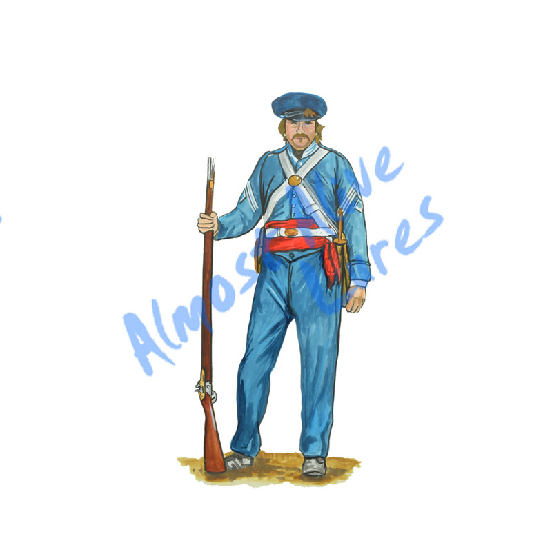 Civil War Soldier - Printed Vinyl Decal