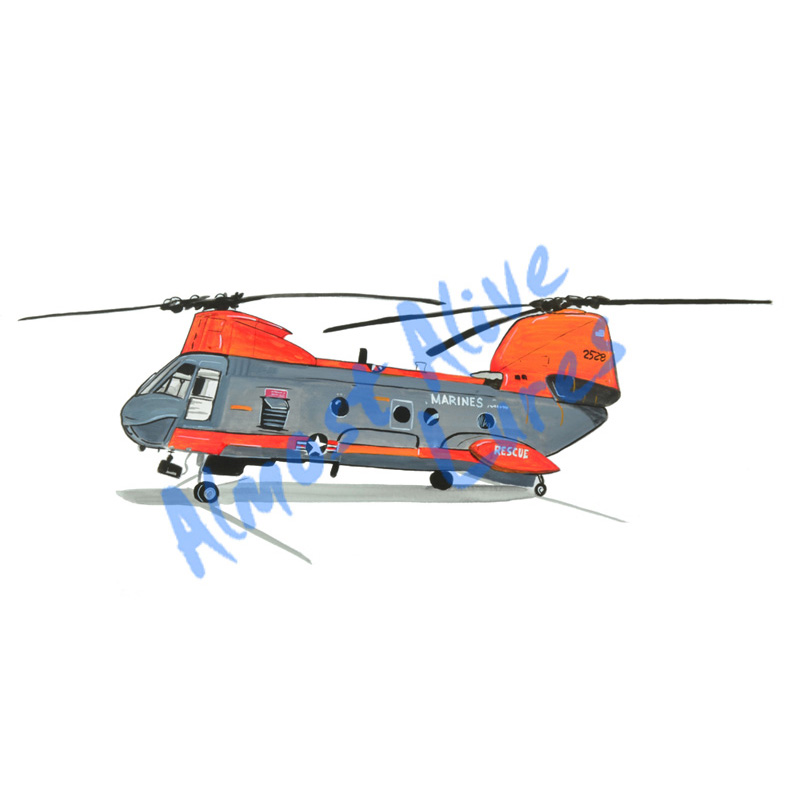 Search And Rescue Helicopter - Printed Vinyl Decal