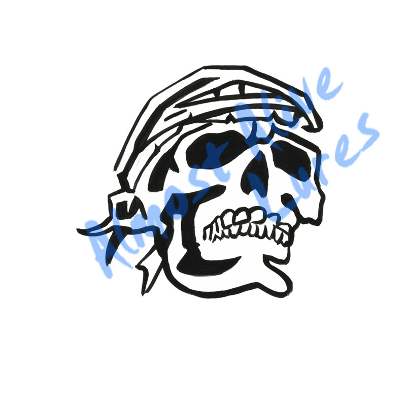 Pirate Skull With Bandana - Printed Vinyl Decal
