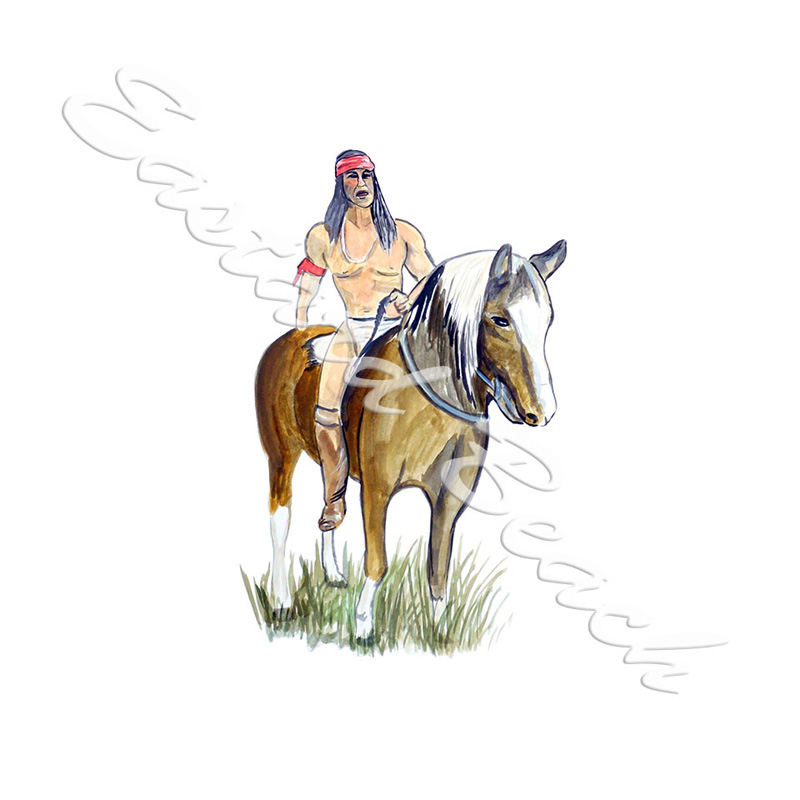 Plains Indian on Horseback