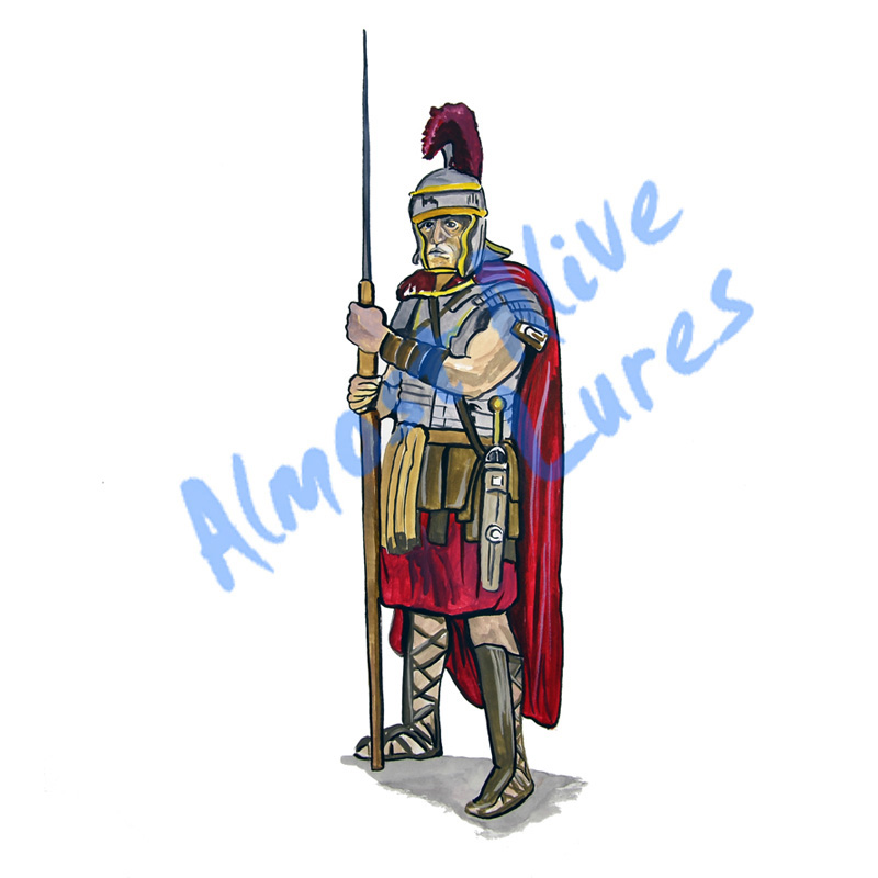 Roman Soldier - Printed Vinyl Decal