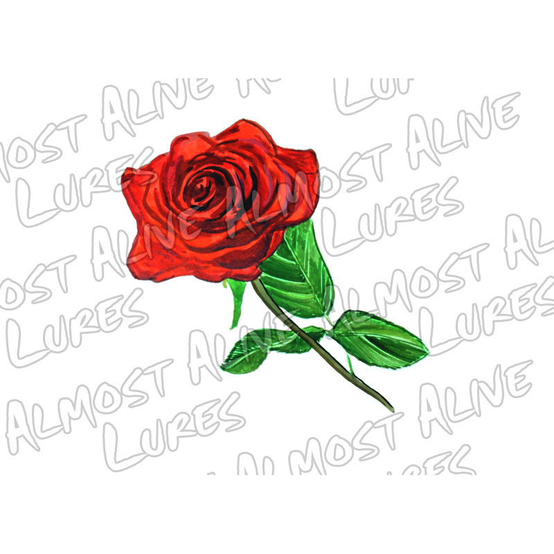 Rose - Printed Vinyl Decal