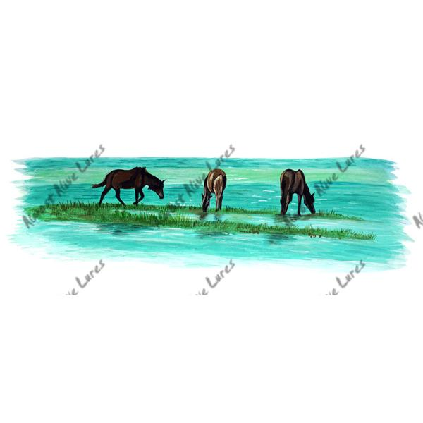 Triple Banker Ponies - Printed Vinyl Decal