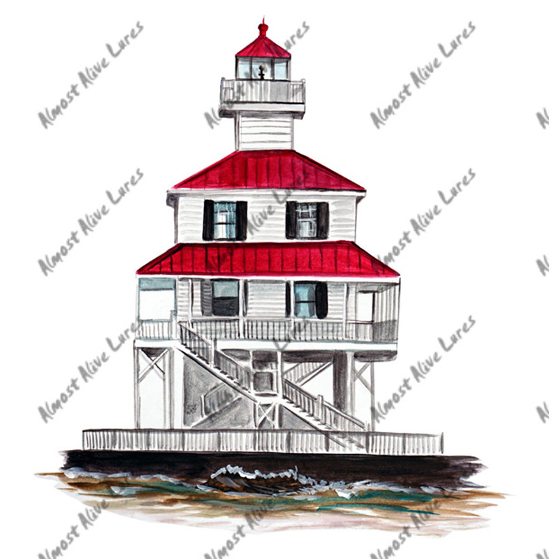 New Canal Lighthouse - Printed Vinyl Decal